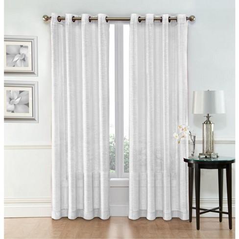 Goodgram Whittier Metallic Sparkle Semi, Sparkle Curtain Panels