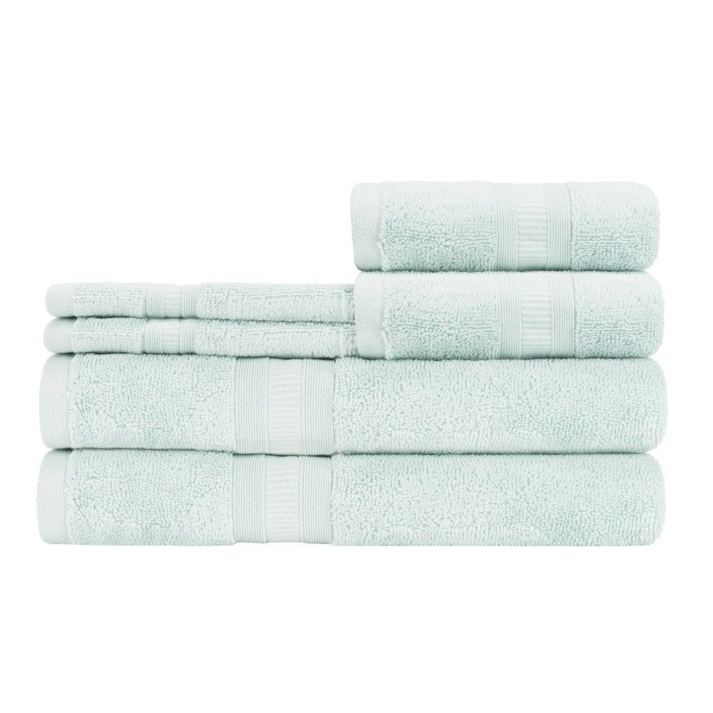 Image of 6pc Airplush Bath Towel Set Seaglass - Caro Home