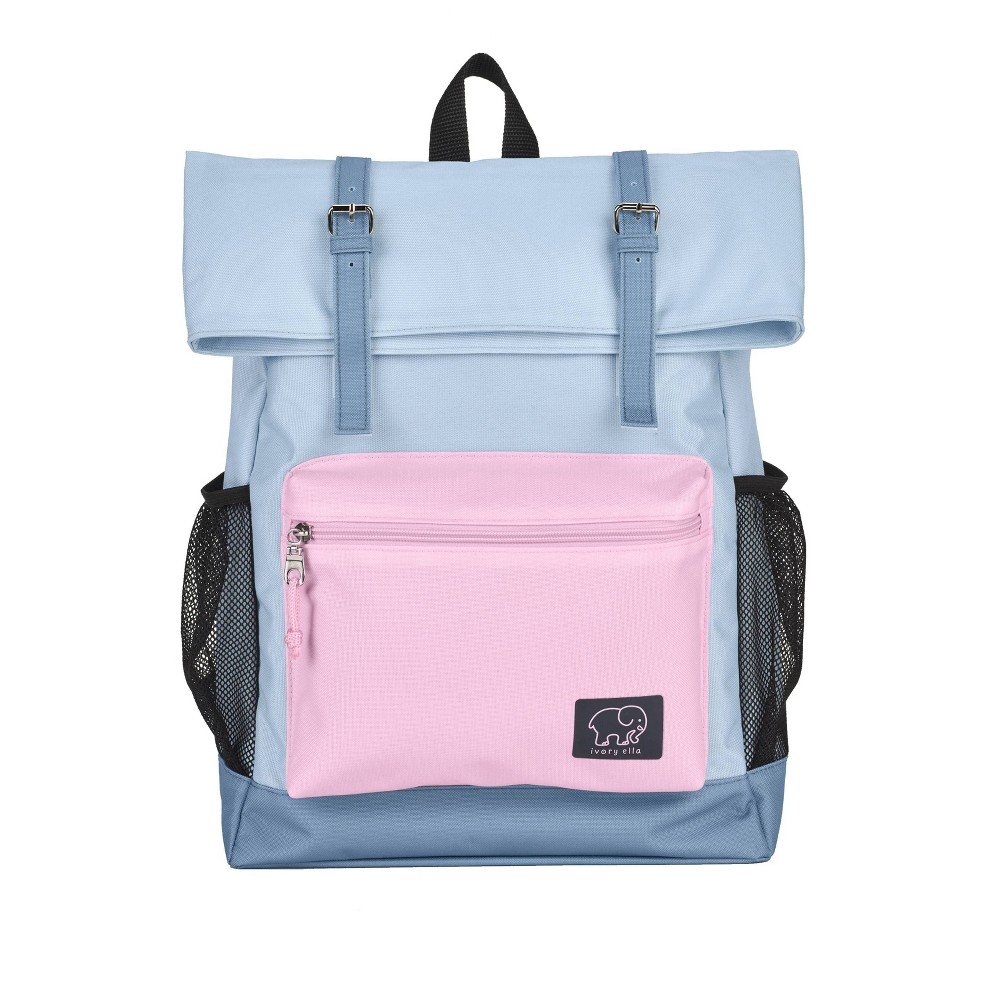 "Image of ""Ivory Ella 16"""" Rollover Backpack - Blue/Magenta, Size: Small"""
