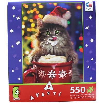 Ceaco, Inc Cocoa Kitty 550 Piece Christmas Jigsaw Puzzle