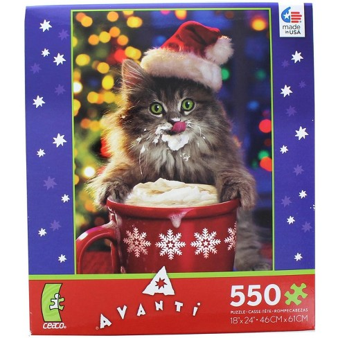 Ceaco, Inc Cocoa Kitty 550 Piece Christmas Jigsaw Puzzle - image 1 of 3
