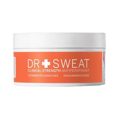 Dr. Sweat Clinical Strength Antiperspirant & Deodorant - 10ct