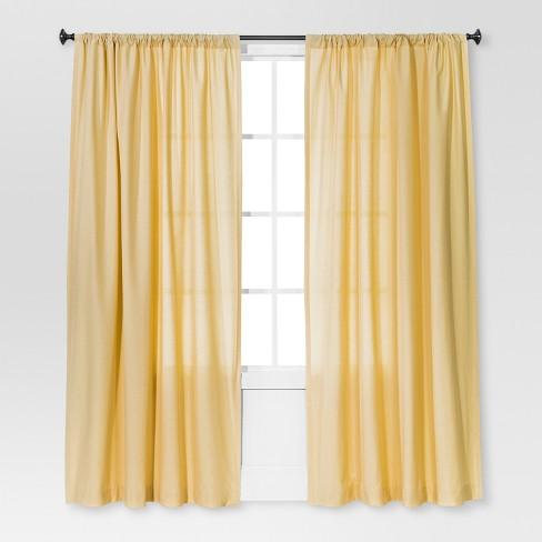 "Farrah Curtain Panel Yellow (54""x84"") - Threshold™ - image 1 of 2"