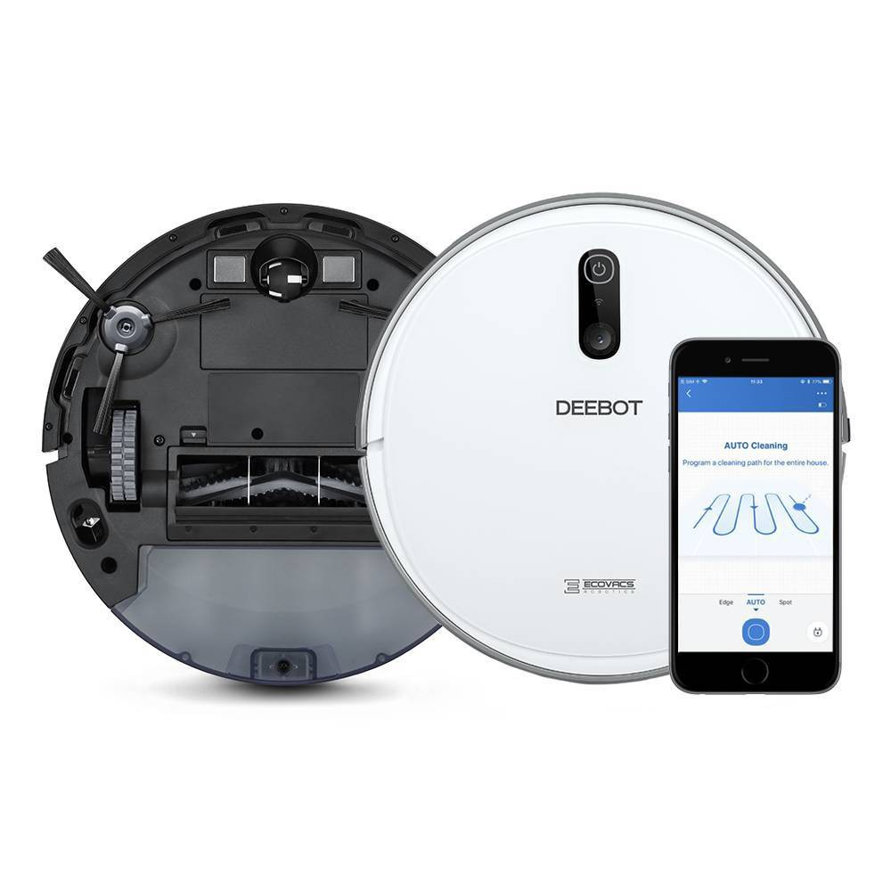 Image of ECOVACS DEEBOT 710 Quiet Multi-Surface Robotic Vacuum Cleaner with Optical Mapping and Smart Navigation, White