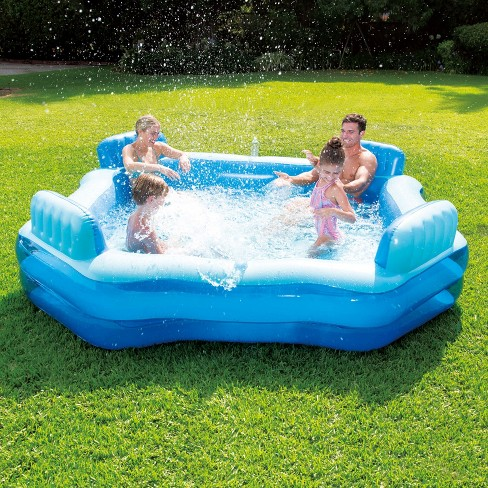 Summer Waves Inflatable Home Beach Lake 4 Person Deluxe Comfort ...