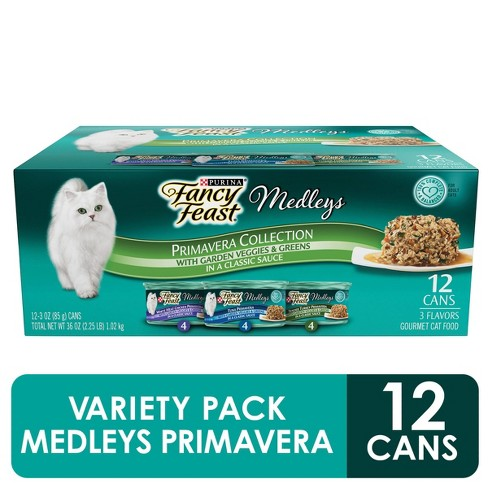 Purina Fancy Feast Elegant Medleys Primavera Collection Variety Pack Wet Cat Food - 3oz cans / 12ct - image 1 of 4