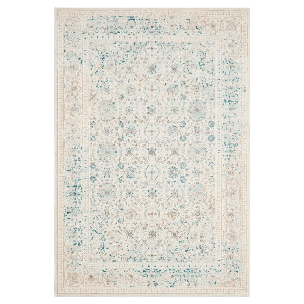 Imbaba Area Rug - Turquoise / Ivory (4' X 5'7 ) - Safavieh, Blue