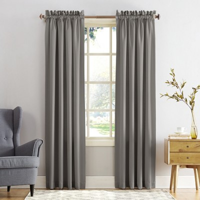 Seymour Energy Efficient Rod Pocket Curtain Panel Gray 54 x84 - Sun Zero