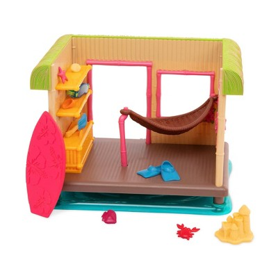Li'l Woodzeez Miniature Playset with Accessories 15pc - Tiki Hut