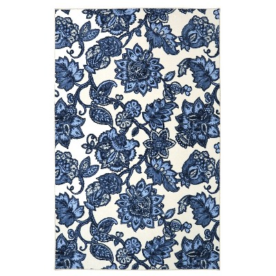 5'X8' Floral Area Rug Blue - Mohawk