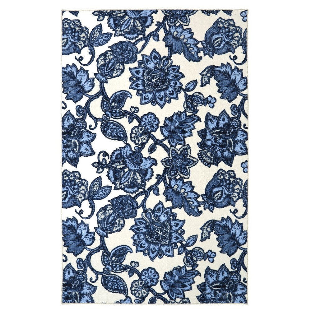 Image of 5'X8' Floral Area Rug Blue - Mohawk