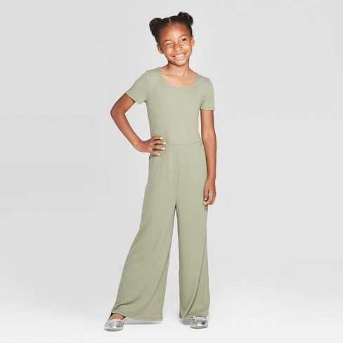 Girls' Short Sleeve Rib Jumpsuit - art class™ - image 1 of 3
