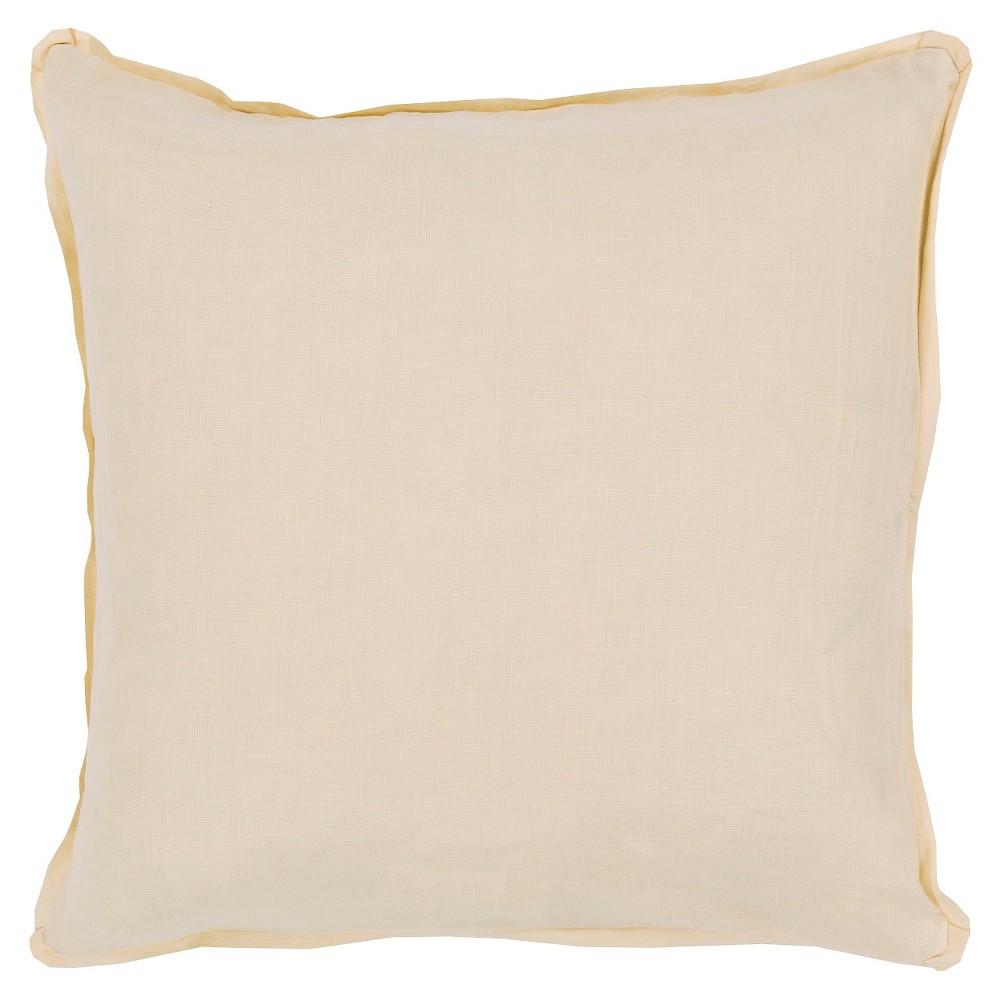 Gold Zevgari Linen Throw Pillow 22
