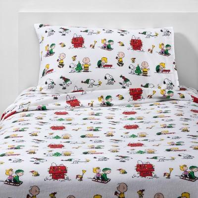Peanuts Holiday Flannel Sheet Set Target