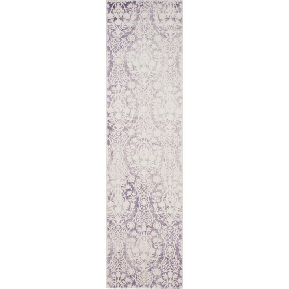 22X10 Medallion Loomed Runner Lavender/Ivory - Safavieh Price