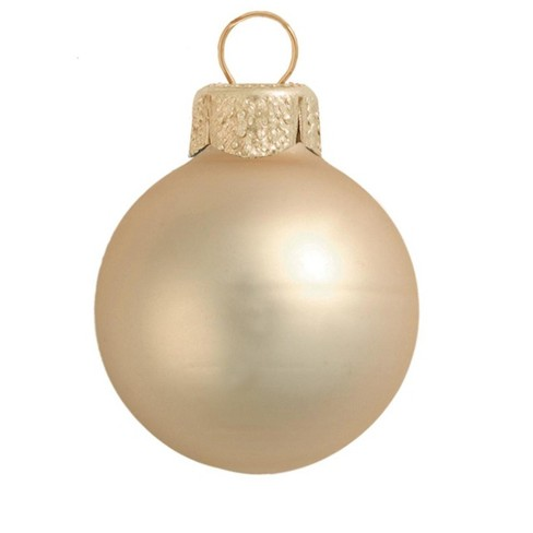 """Northlight 40ct Matte Glass Ball Christmas Ornament Set 1.25"""" - Champagne Gold - image 1 of 1"""