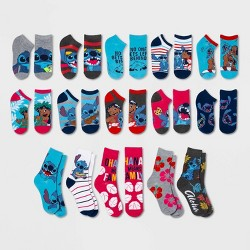 Women's Lilo & Stitch 15 Days of Socks Advent Calendar - Assorted Colors One Size
