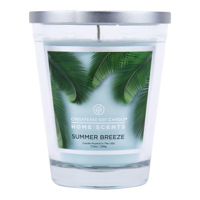 11.5oz Glass Jar Candle Summer Breeze - Home Scents by Chesapeake Bay Candle