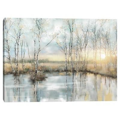 "30"" x 40"" Calm Reflections by Studio Arts Canvas Art Print - Masterpiece Art Gallery"