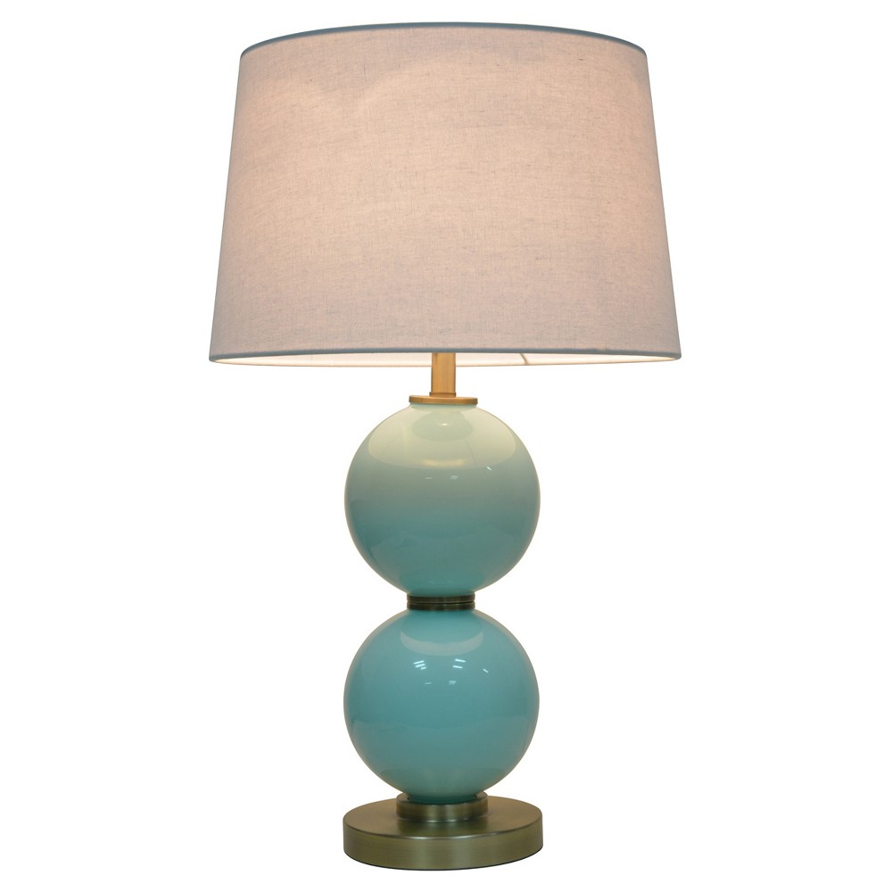 Glass Table Lamp With Touch On Off Aqua Pillowfort 8482