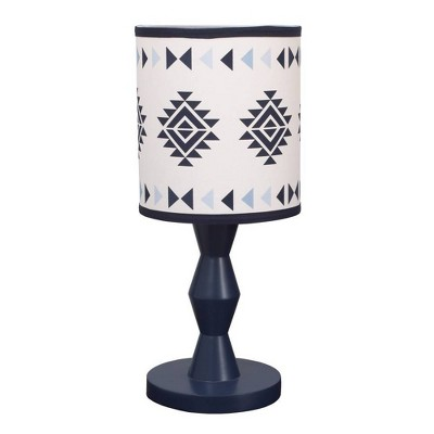 Carter's Be Brave Southwestern Geometric Lamp Base and Shade (Includes LED Light Bulb) Navy/Blue/White