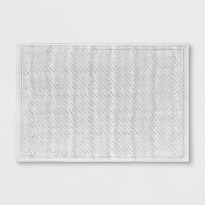 Solid Bath Mat True White - Threshold™
