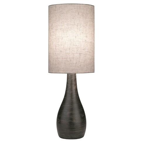 Lite Source Quatro I 1 Light Table Lamp Brushed Dark Bronze