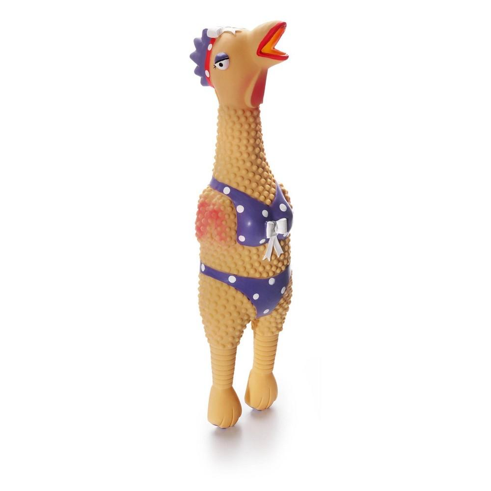 Charming Pet Henrietta Rubber Chicken Dog Toy L