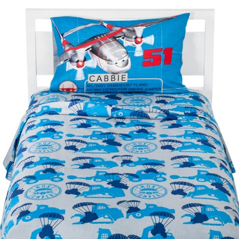 Disney® Planes: Fire & Rescue Sheet Set - Twin (Blue) - image 1 of 2