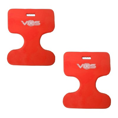 Vos Oasis Water Saddle Swimming Pool Float Lounge Seat for Adults & Kids, Made with UV Resistant Foam for Floating, Coral Orange (2 Pack)