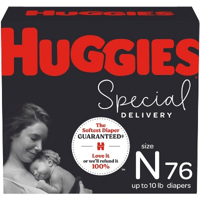 Huggies Special Delivery Hypoallergenic Baby Disposable Diapers Super Pack - Size Newborn - 76ct