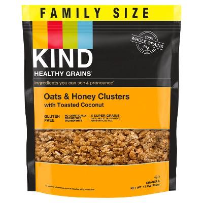 KIND Oats & Honey Clusters Granola - 17oz