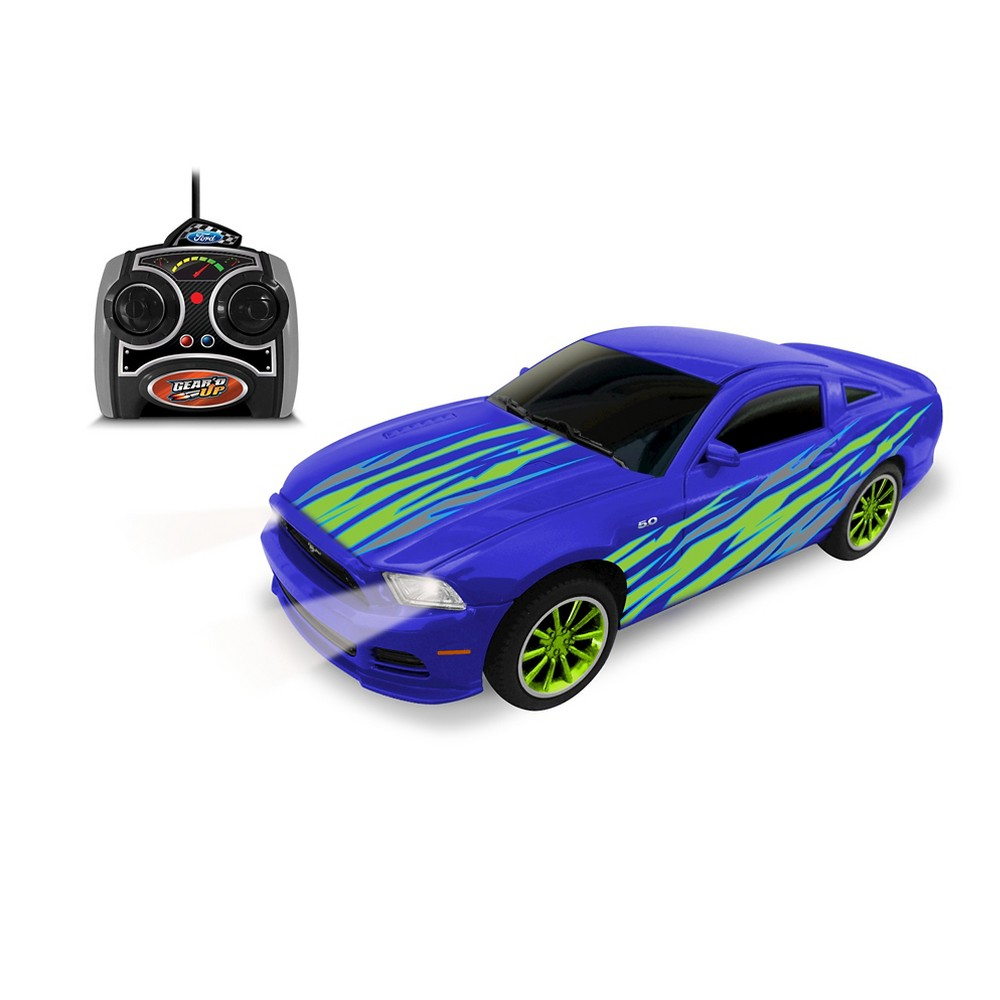 Jam'n Products Gear'd Up Ford Mustang GT Remote Control, Blue 1:24 Scale