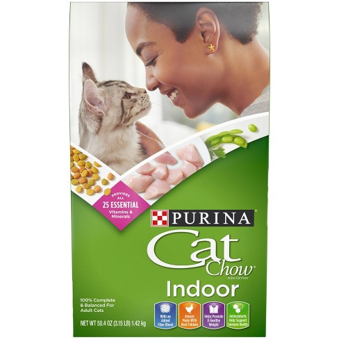Purina Cat Chow Indoor with Chicken Adult Complete & Balanced Dry Cat Food - image 1 of 4