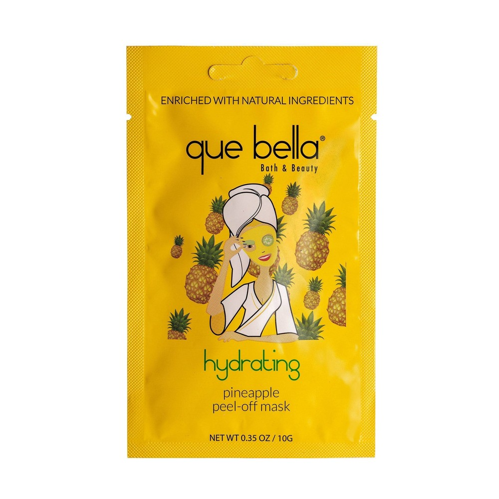 Image of Que Bella Hydrating Pineapple Peel Off Face Mask - 0.33oz