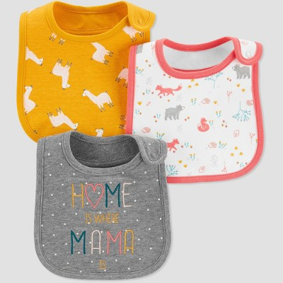 Baby Girls' Home With Mama Bib - Just One You® made by carter's OSZ Wild Honey