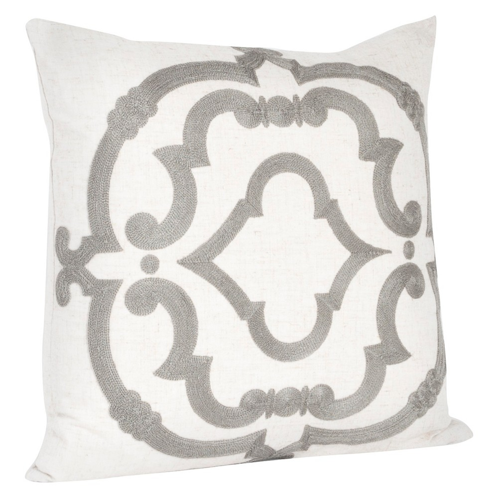 Embroidered Design Throw Pillow (17