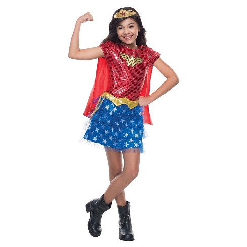 Wonder Woman Halloween Costume Kids.Kids Wonder Woman Sequin Costume Small