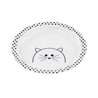 Lassig Little Chums Cat Plate - White