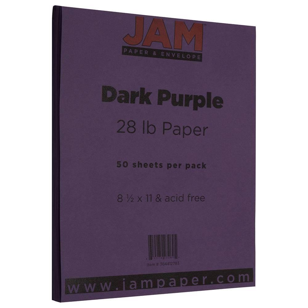 Jam Paper Basis 28lb Paper 8 5 34 X 11 34 50pk Dark Purple