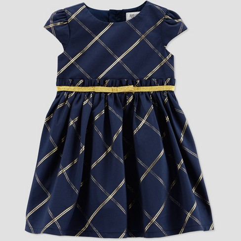 cdb34e0c5 Toddler Girls  Gold Check Holiday Dressy Dress - Just One You® Made ...