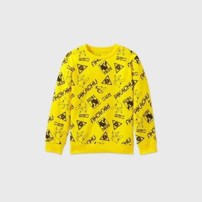 Boys' Pokemon 'Pikachu' Fleece Sweatshirt - Yellow
