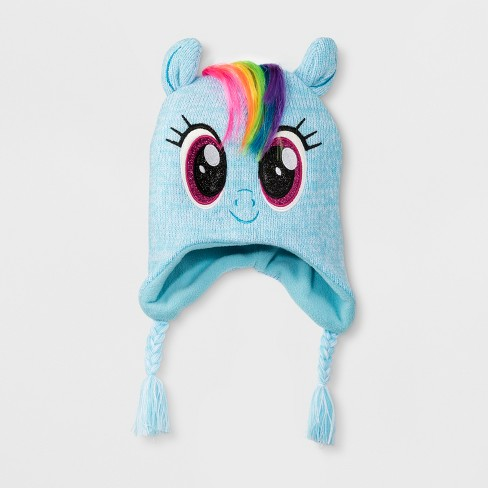 a01f797e6b2 Girls  My Little Pony Rainbow Dash Hat - Blue One Size   Target