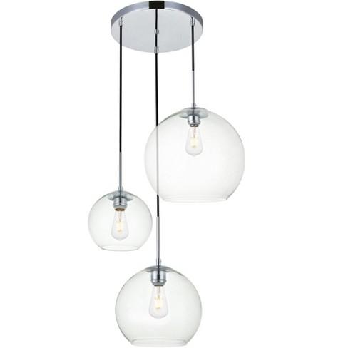 "Elegant Lighting LD2218 Baxter 3 Light 21"" Wide Multi Light Pendant - image 1 of 4"