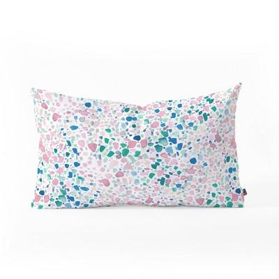 Jacqueline Maldonado Magic Terrazzo Pink Oblong Lumbar Throw Pillow Pink - Deny Designs