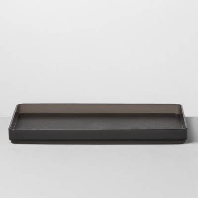 Large Plastic Bathroom Tray 9 W X 6 D X 0.75 H Gray - Made By Design™