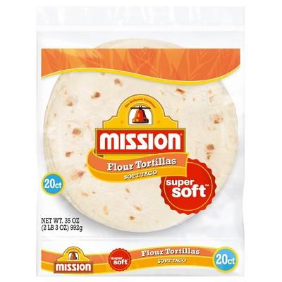 Mission Taco Size Super Soft Flour Tortillas - 35oz/20ct