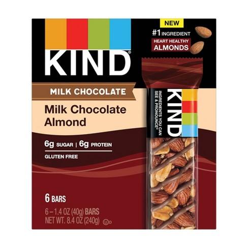 KIND Chocolate Series Milk Chocolate Almond Bar - 8.4oz/6ct - image 1 of 3