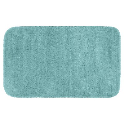 "30""x50"" Traditional Plush Washable Nylon Bath Rug Sea foam - Garland"