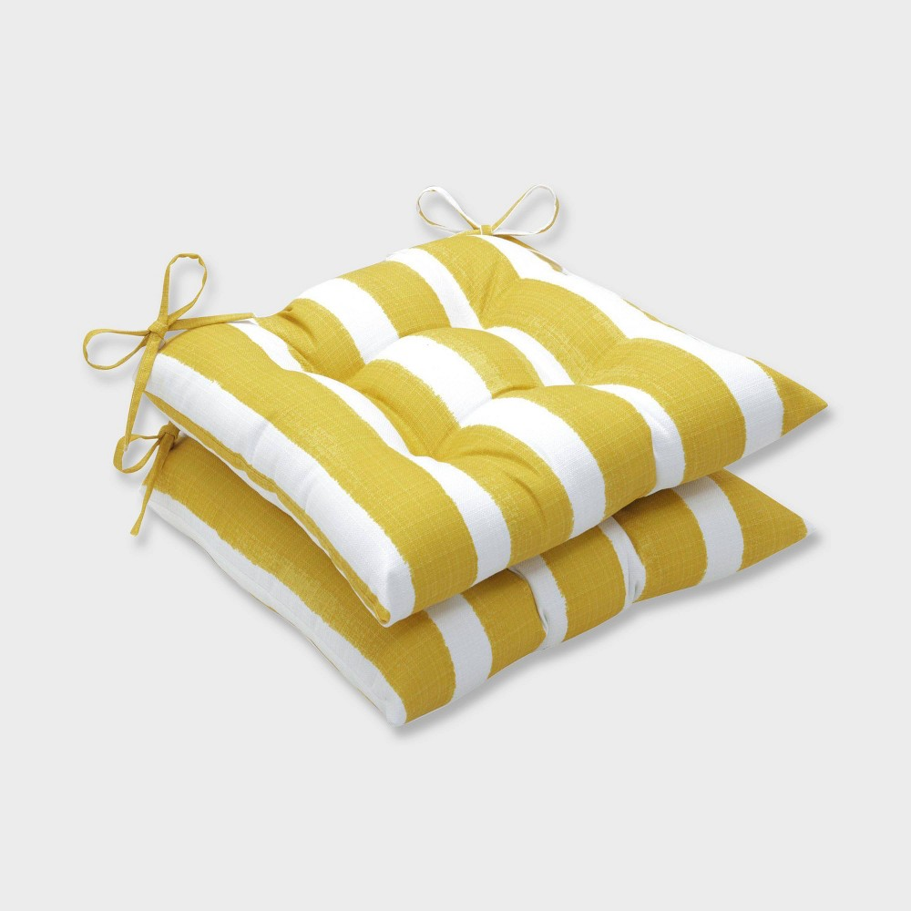 Prime 2Pk Nico Pineapple Wrought Iron Outdoor Seat Cushions Yellow Machost Co Dining Chair Design Ideas Machostcouk